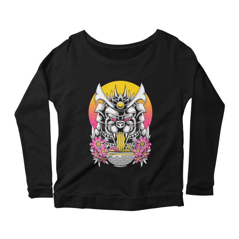 Samurai Kaiju Ramen Women's Longsleeve T-Shirt by godzillarge's Artist Shop