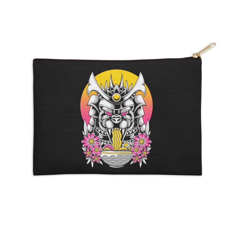 Samurai Kaiju Ramen Accessories Zip Pouch by godzillarge's Artist Shop