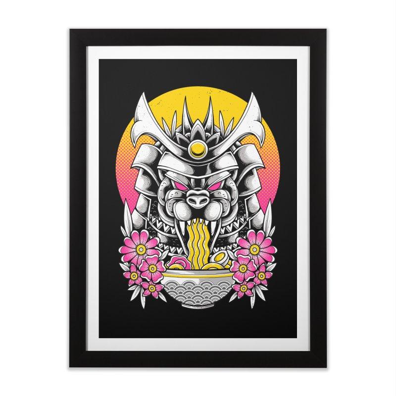 Samurai Kaiju Ramen Home Framed Fine Art Print by godzillarge's Artist Shop