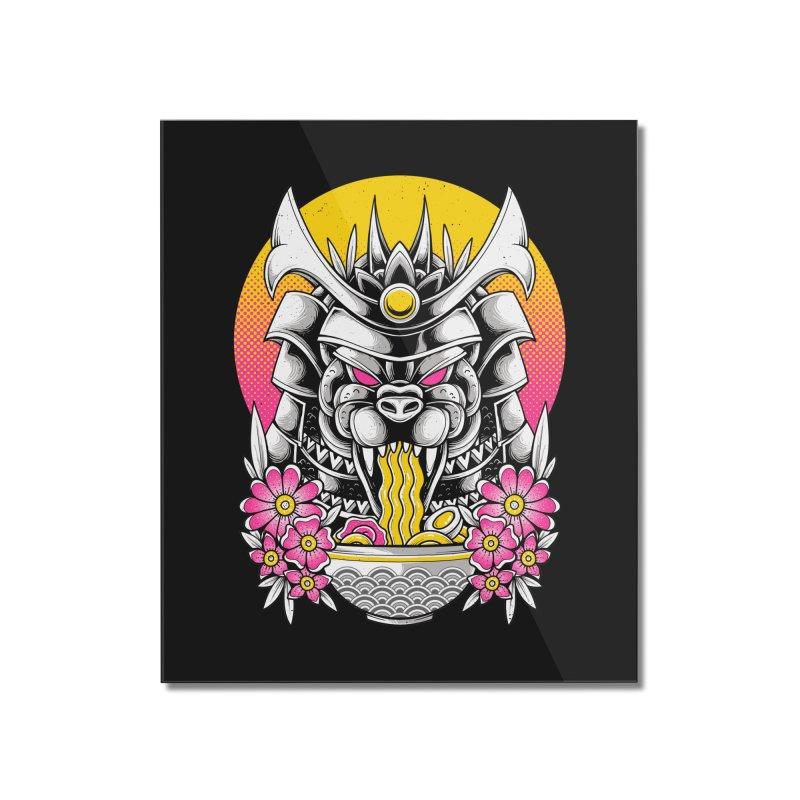 Samurai Kaiju Ramen Home Mounted Acrylic Print by godzillarge's Artist Shop