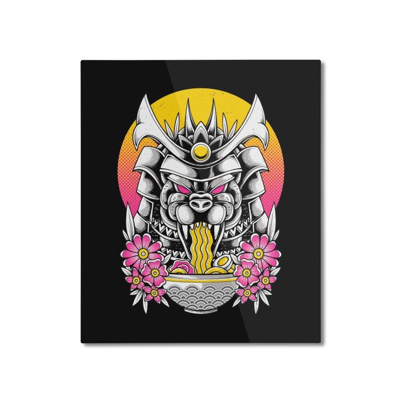 Samurai Kaiju Ramen Home Mounted Aluminum Print by godzillarge's Artist Shop