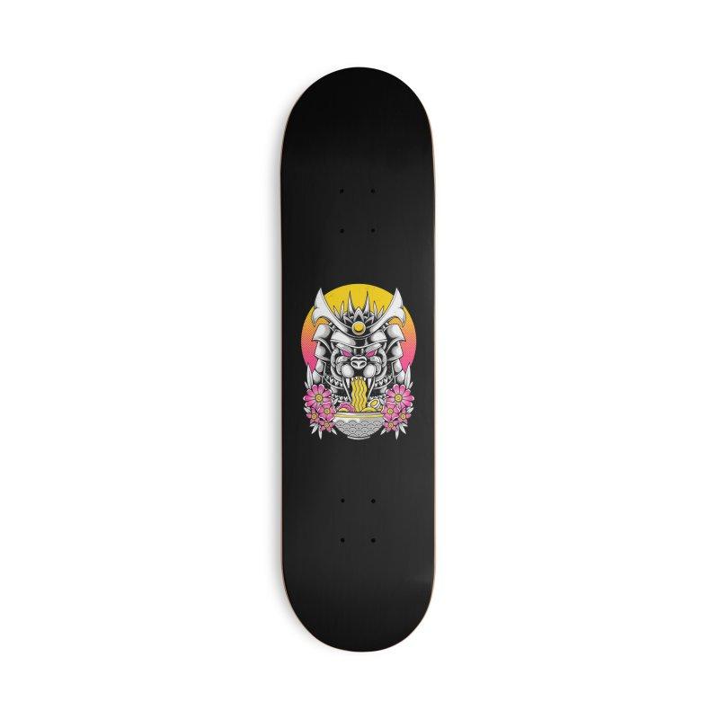 Samurai Kaiju Ramen Accessories Skateboard by godzillarge's Artist Shop