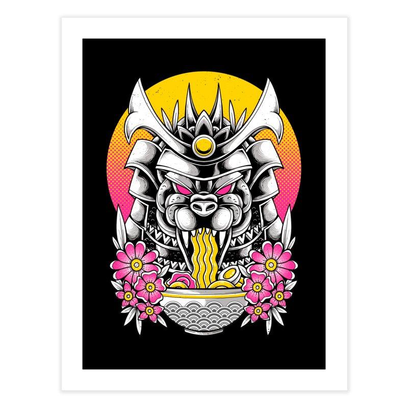 Samurai Kaiju Ramen Home Fine Art Print by godzillarge's Artist Shop