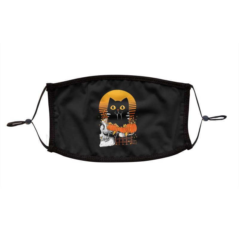 Halloween Cat Accessories Face Mask by godzillarge's Artist Shop