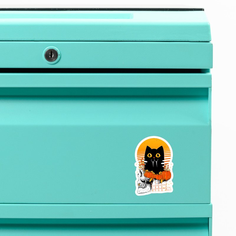 Halloween Cat Accessories Magnet by godzillarge's Artist Shop