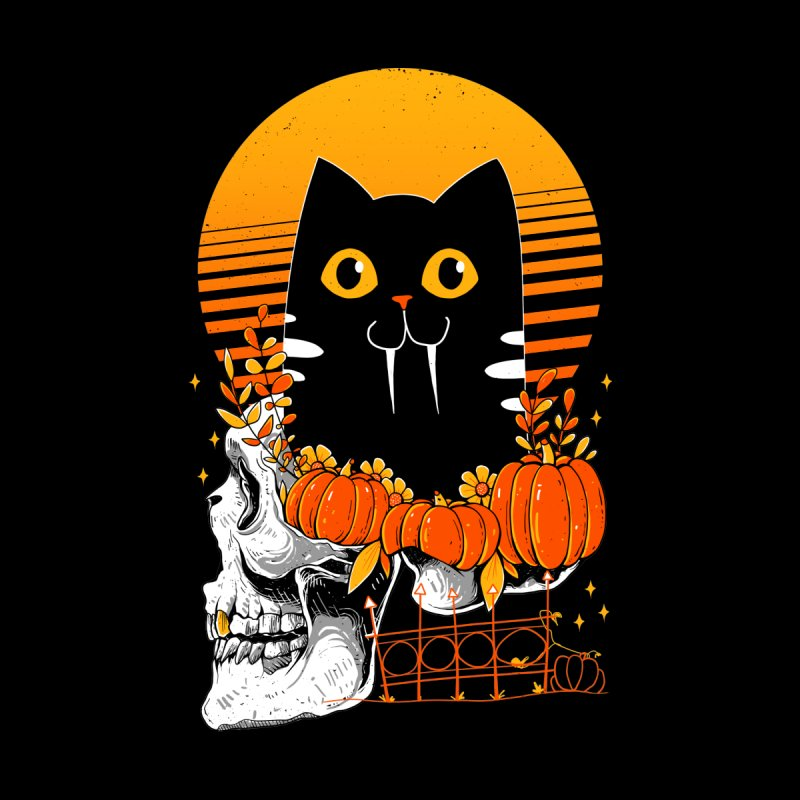 Halloween Cat Men's Zip-Up Hoody by godzillarge's Artist Shop