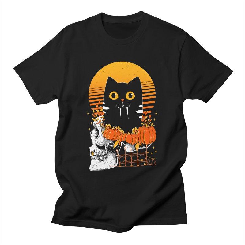 Halloween Cat Men's T-Shirt by godzillarge's Artist Shop