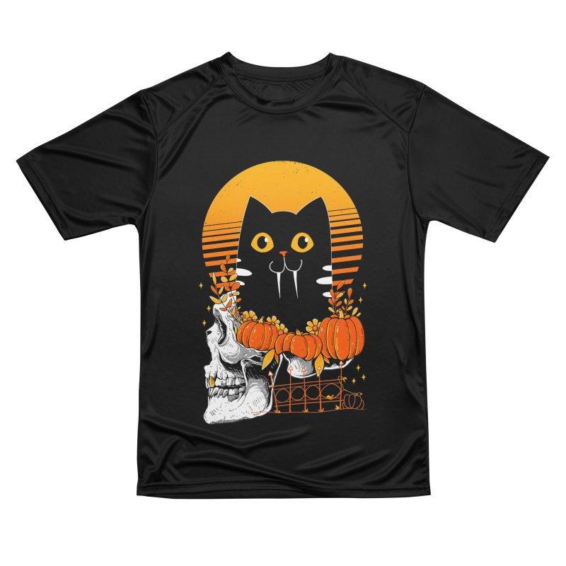 Halloween Cat Women's T-Shirt by godzillarge's Artist Shop