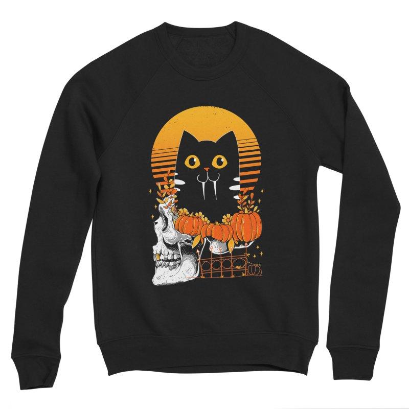 Halloween Cat Men's Sweatshirt by godzillarge's Artist Shop