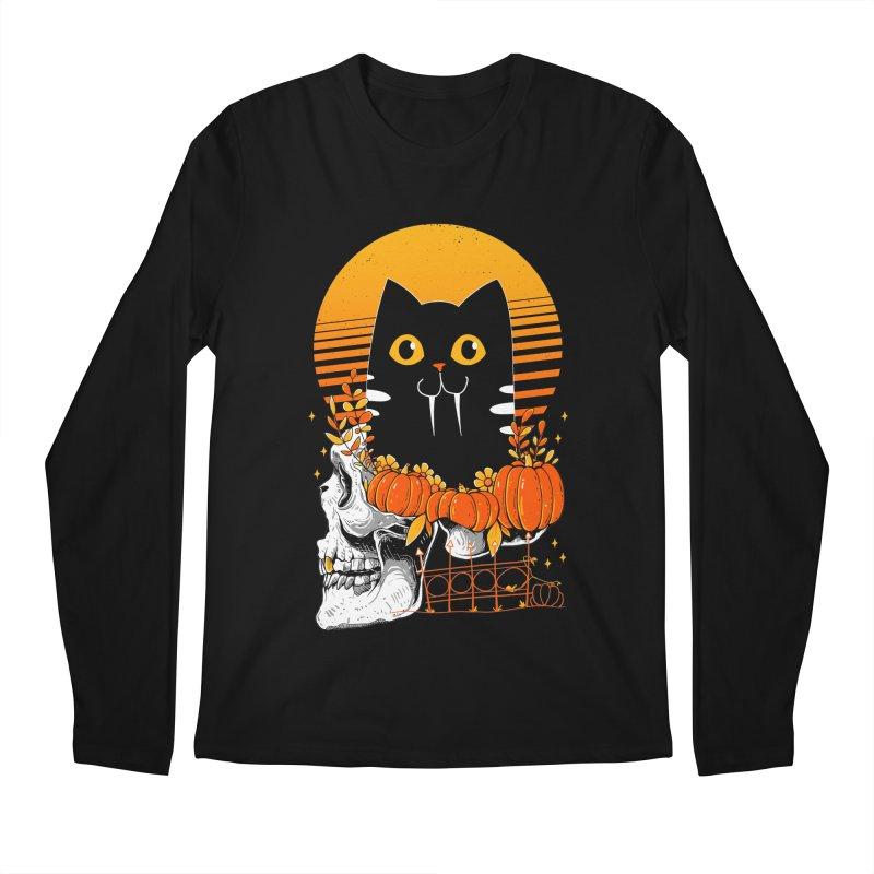 Halloween Cat Men's Longsleeve T-Shirt by godzillarge's Artist Shop