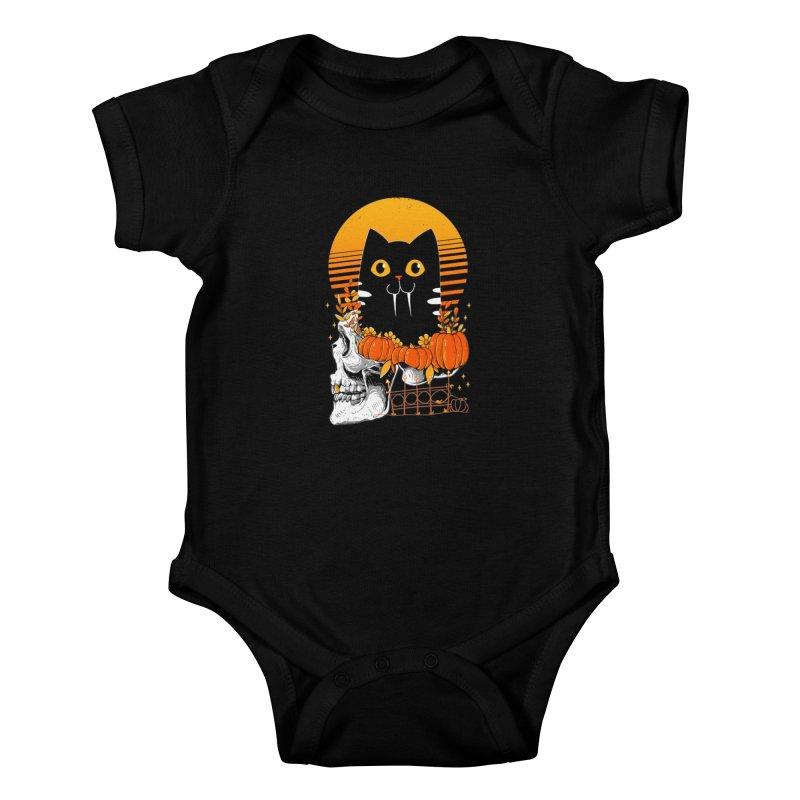 Halloween Cat Kids Baby Bodysuit by godzillarge's Artist Shop