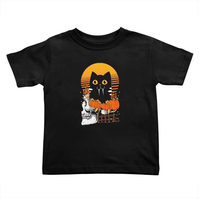 Halloween Cat Kids Toddler T-Shirt by godzillarge's Artist Shop
