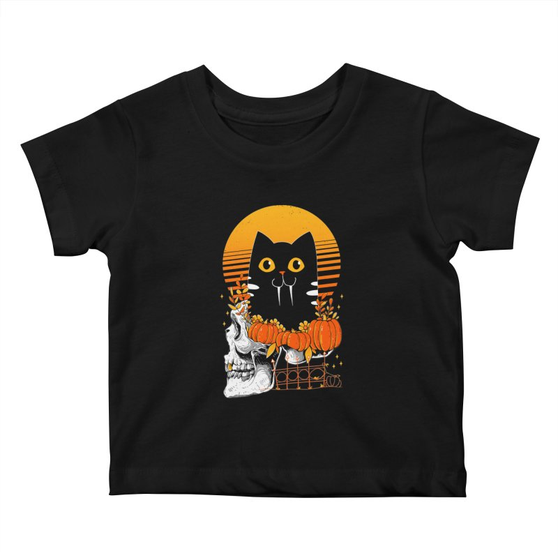 Halloween Cat Kids Baby T-Shirt by godzillarge's Artist Shop