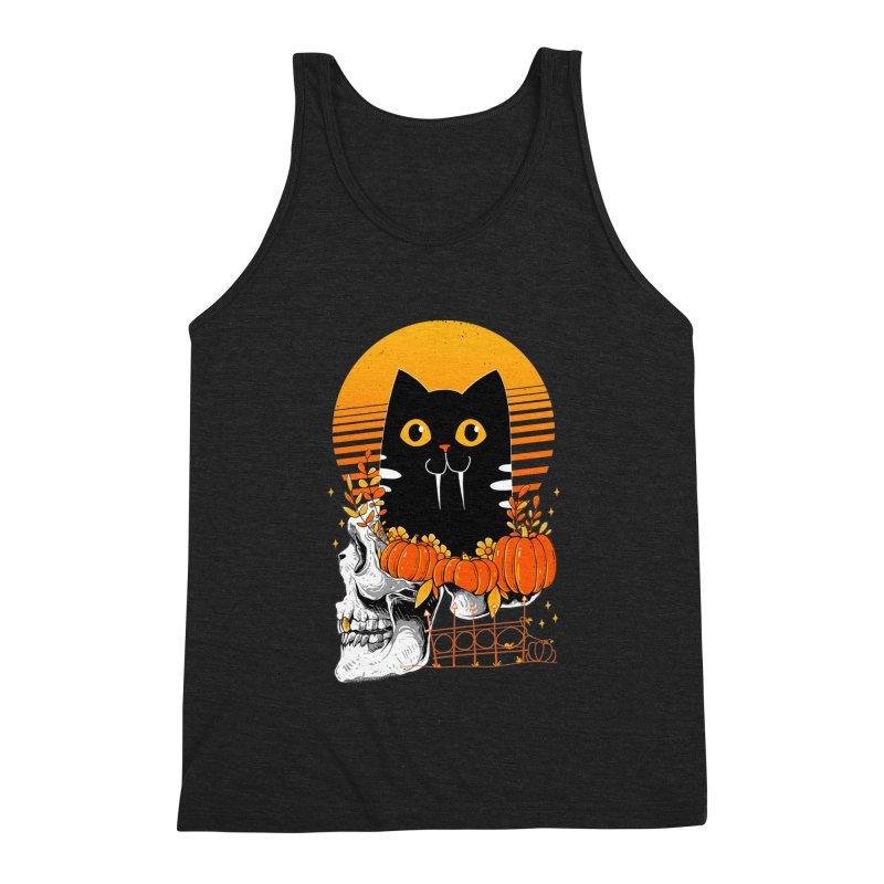 Halloween Cat Men's Tank by godzillarge's Artist Shop