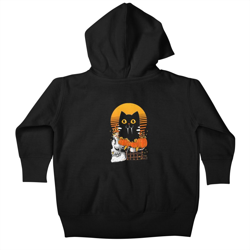 Halloween Cat Kids Baby Zip-Up Hoody by godzillarge's Artist Shop