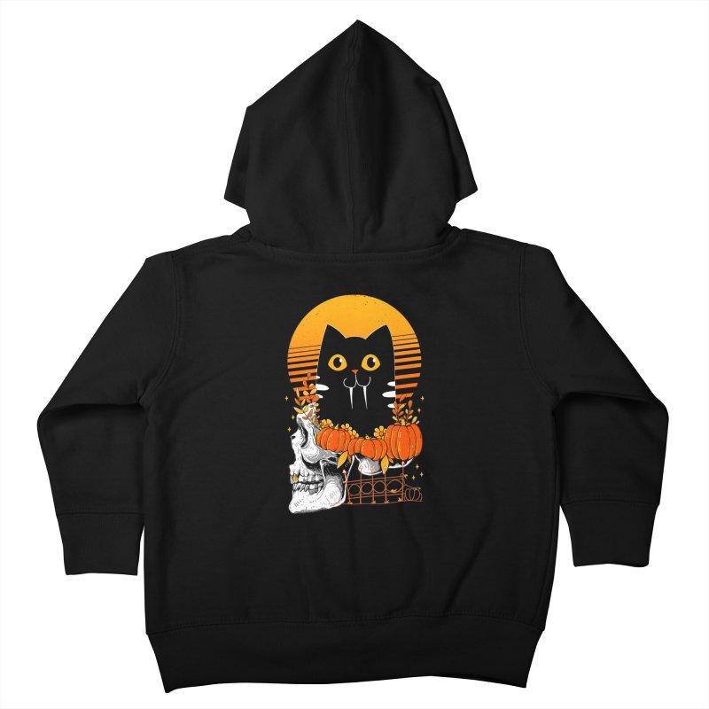 Halloween Cat Kids Toddler Zip-Up Hoody by godzillarge's Artist Shop