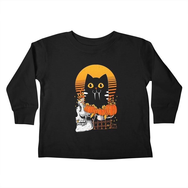 Halloween Cat Kids Toddler Longsleeve T-Shirt by godzillarge's Artist Shop
