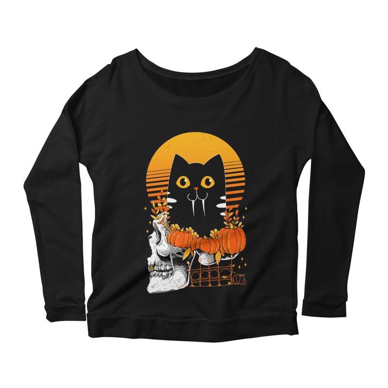 Halloween Cat Women's Longsleeve T-Shirt by godzillarge's Artist Shop