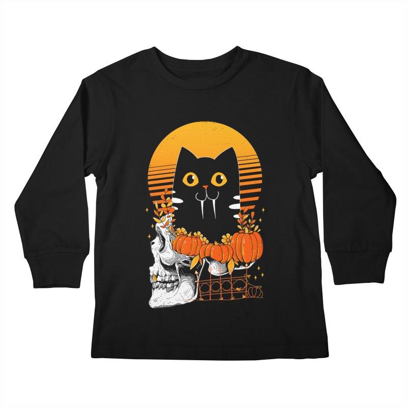 Halloween Cat Kids Longsleeve T-Shirt by godzillarge's Artist Shop