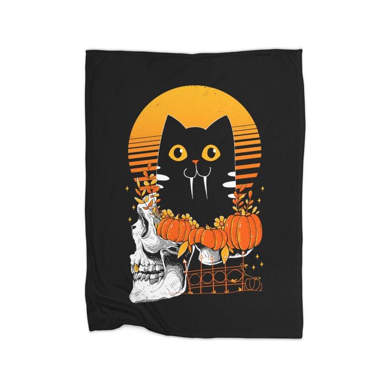 Halloween Cat Home Blanket by godzillarge's Artist Shop