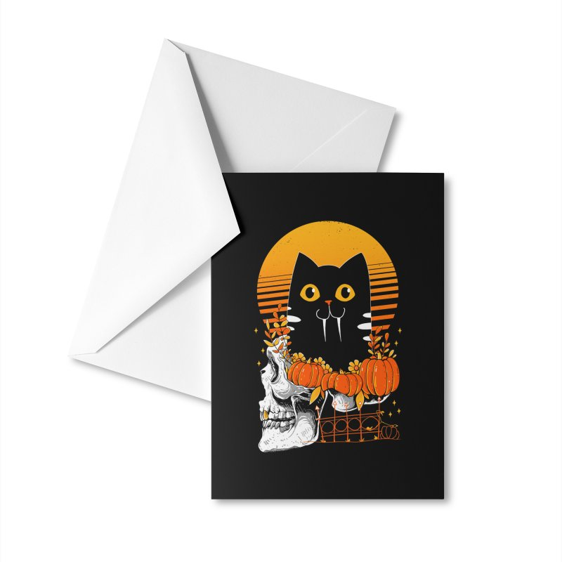 Halloween Cat Accessories Greeting Card by godzillarge's Artist Shop