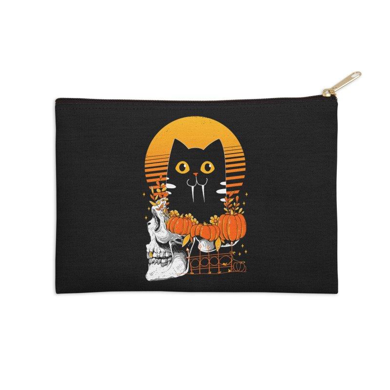Halloween Cat Accessories Zip Pouch by godzillarge's Artist Shop