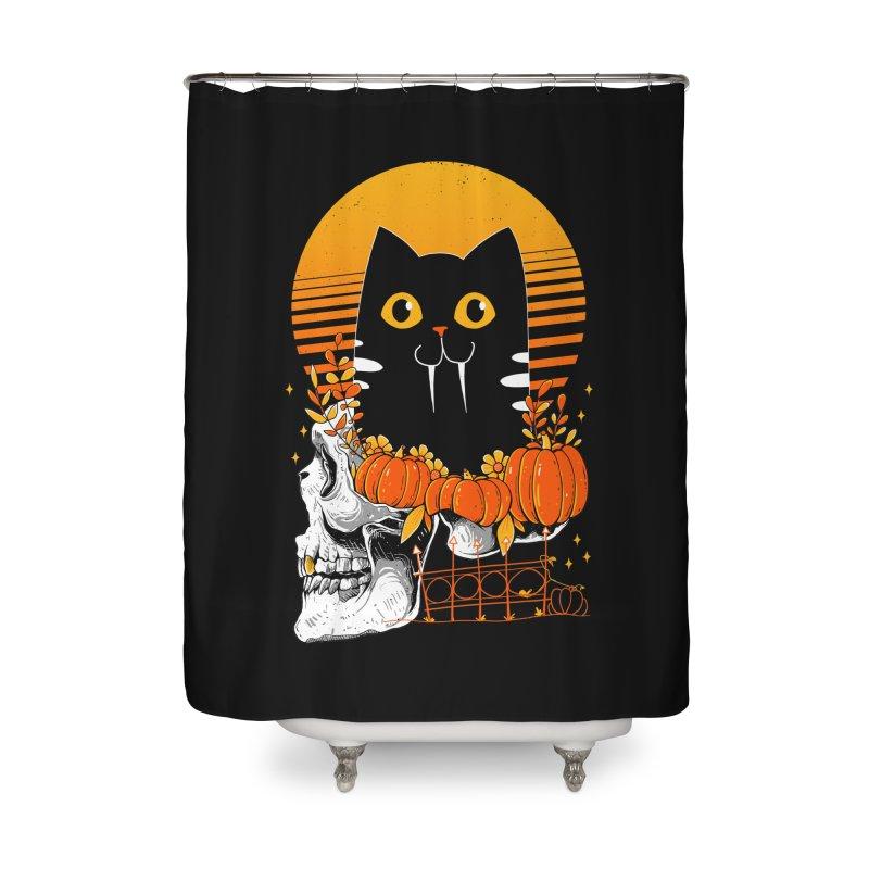 Halloween Cat Home Shower Curtain by godzillarge's Artist Shop