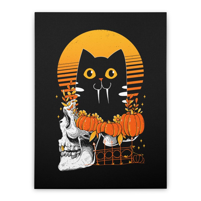 Halloween Cat Home Stretched Canvas by godzillarge's Artist Shop