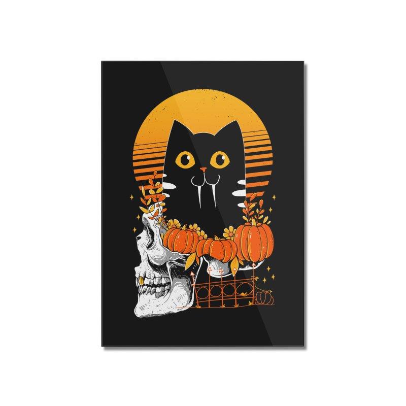 Halloween Cat Home Mounted Acrylic Print by godzillarge's Artist Shop