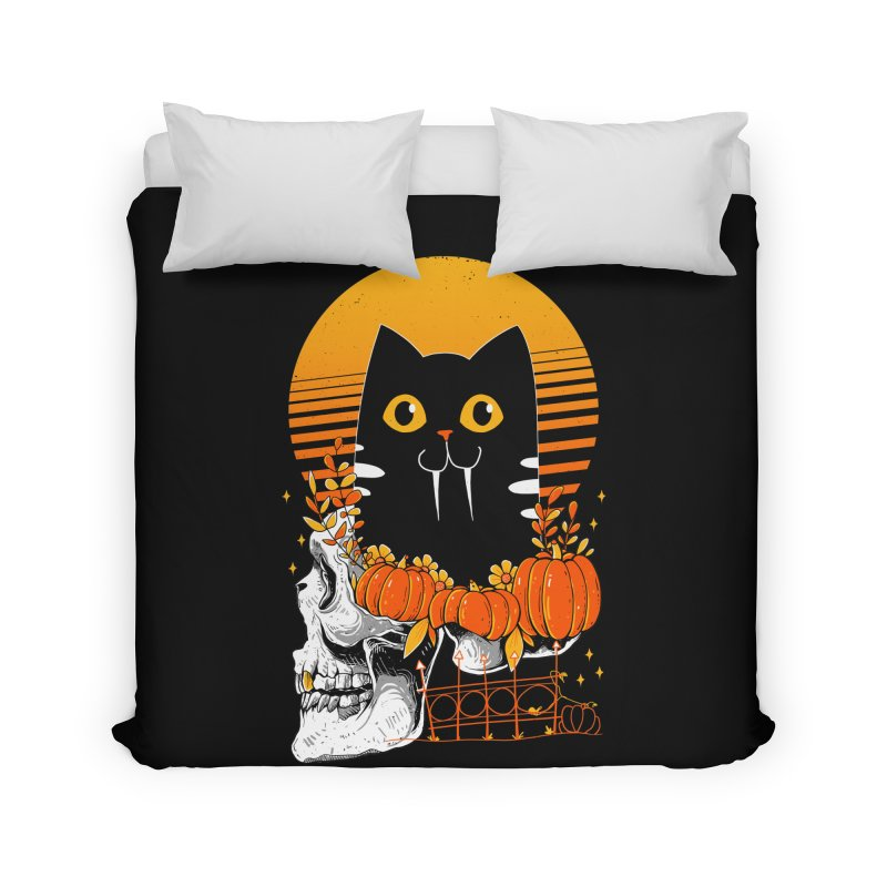Halloween Cat Home Duvet by godzillarge's Artist Shop