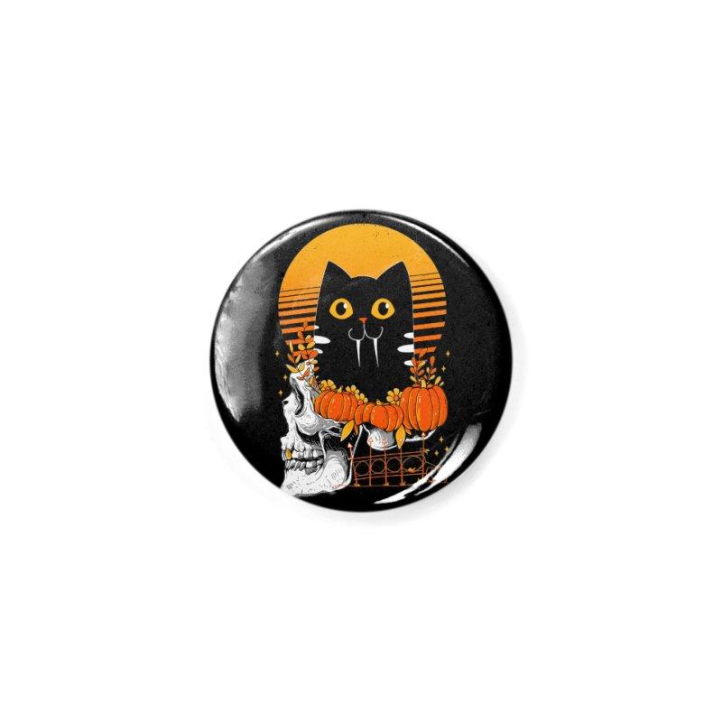 Halloween Cat Accessories Button by godzillarge's Artist Shop