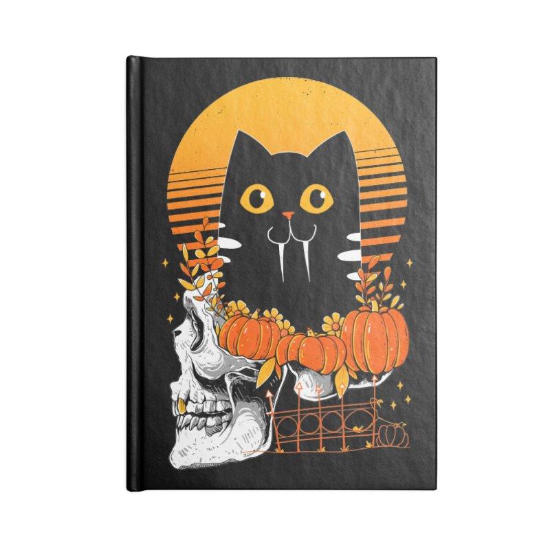 Halloween Cat Accessories Notebook by godzillarge's Artist Shop