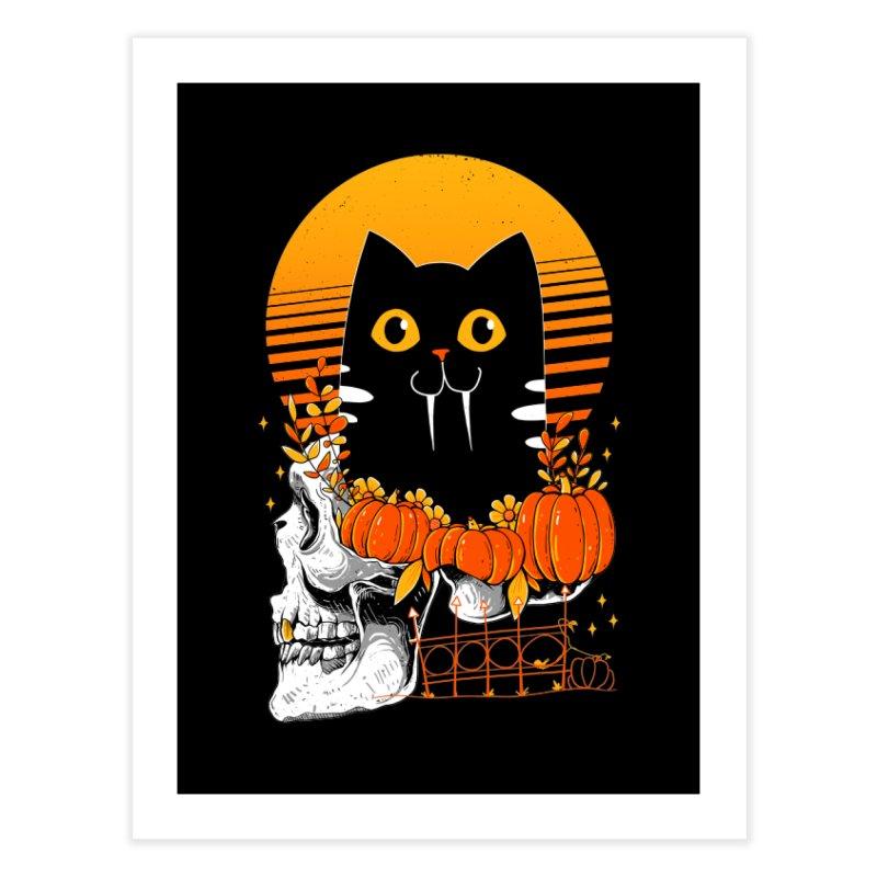 Halloween Cat Home Fine Art Print by godzillarge's Artist Shop