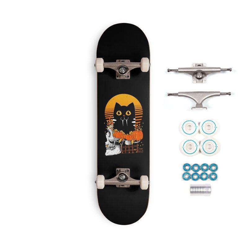 Halloween Cat Accessories Skateboard by godzillarge's Artist Shop