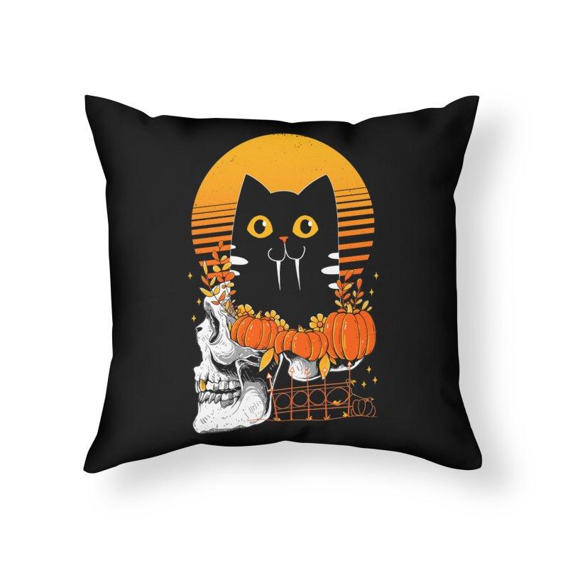 Halloween Cat Home Throw Pillow by godzillarge's Artist Shop