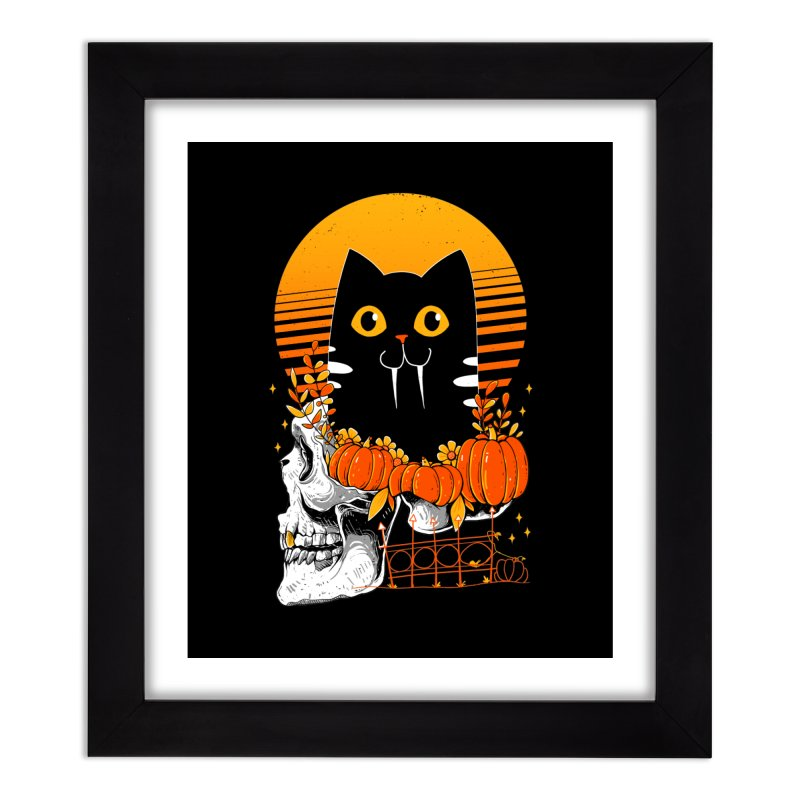 Halloween Cat Home Framed Fine Art Print by godzillarge's Artist Shop