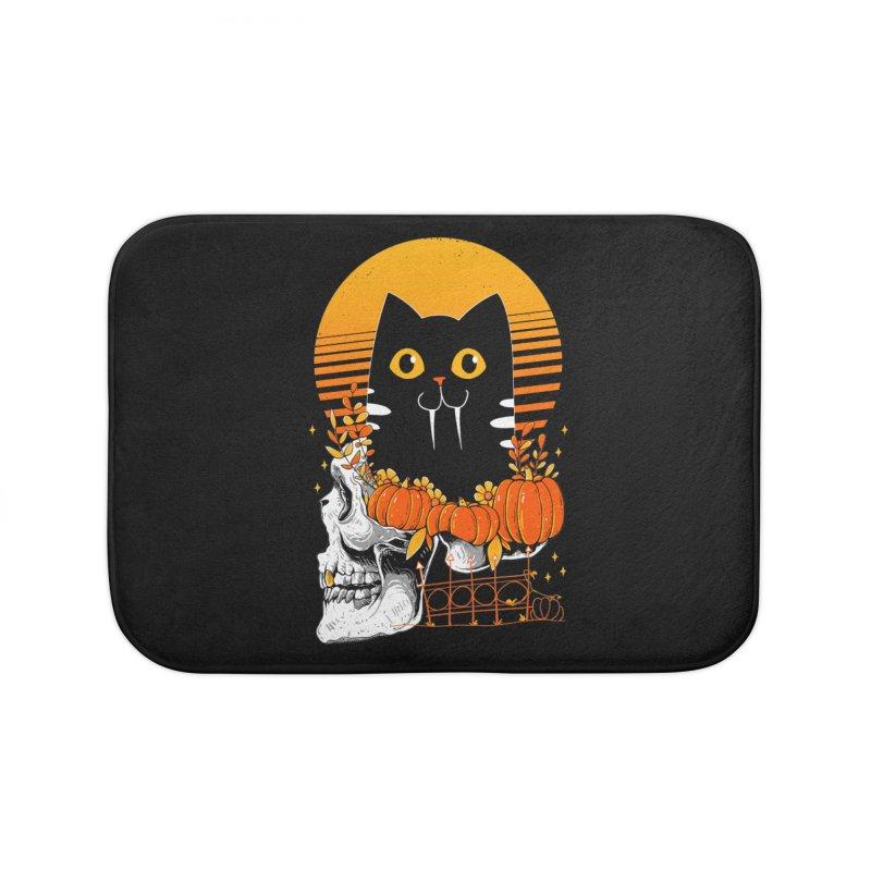 Halloween Cat Home Bath Mat by godzillarge's Artist Shop