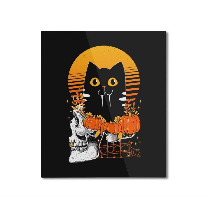 Halloween Cat Home Mounted Aluminum Print by godzillarge's Artist Shop