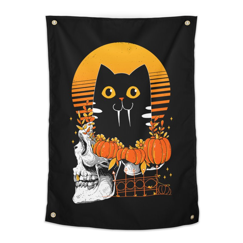 Halloween Cat Home Tapestry by godzillarge's Artist Shop