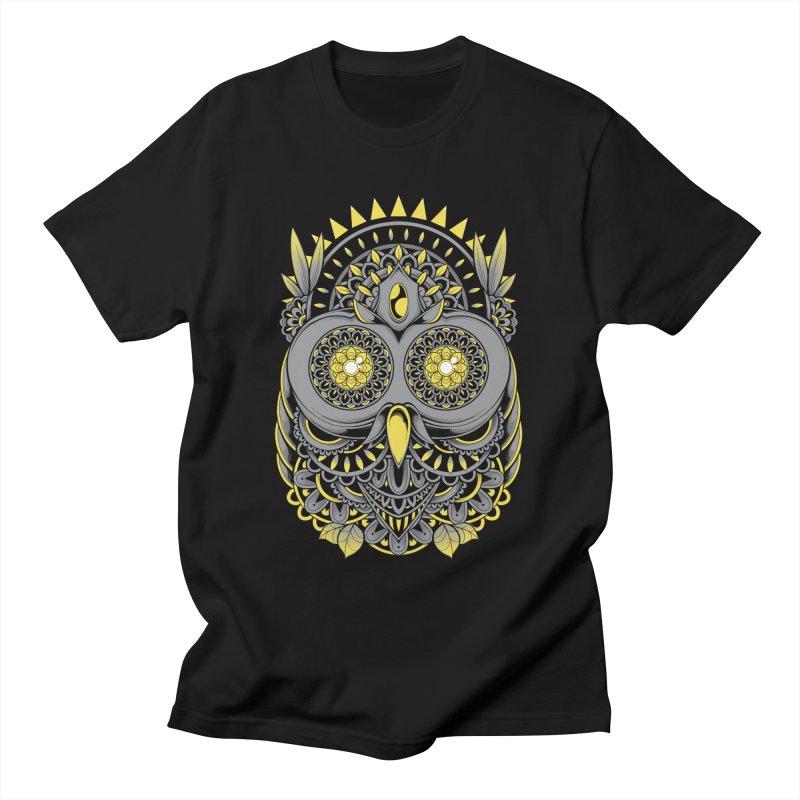 Golden Owl Men's T-Shirt by godzillarge's Artist Shop