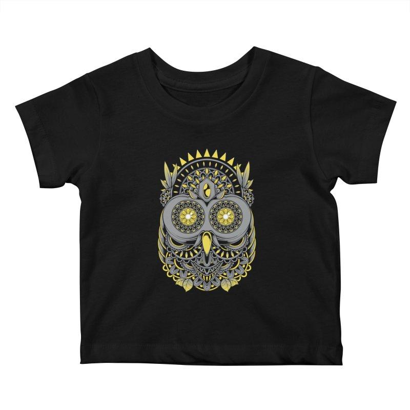 Golden Owl Kids Baby T-Shirt by godzillarge's Artist Shop