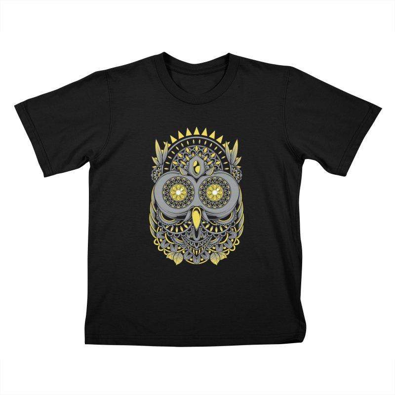 Golden Owl Kids T-Shirt by godzillarge's Artist Shop