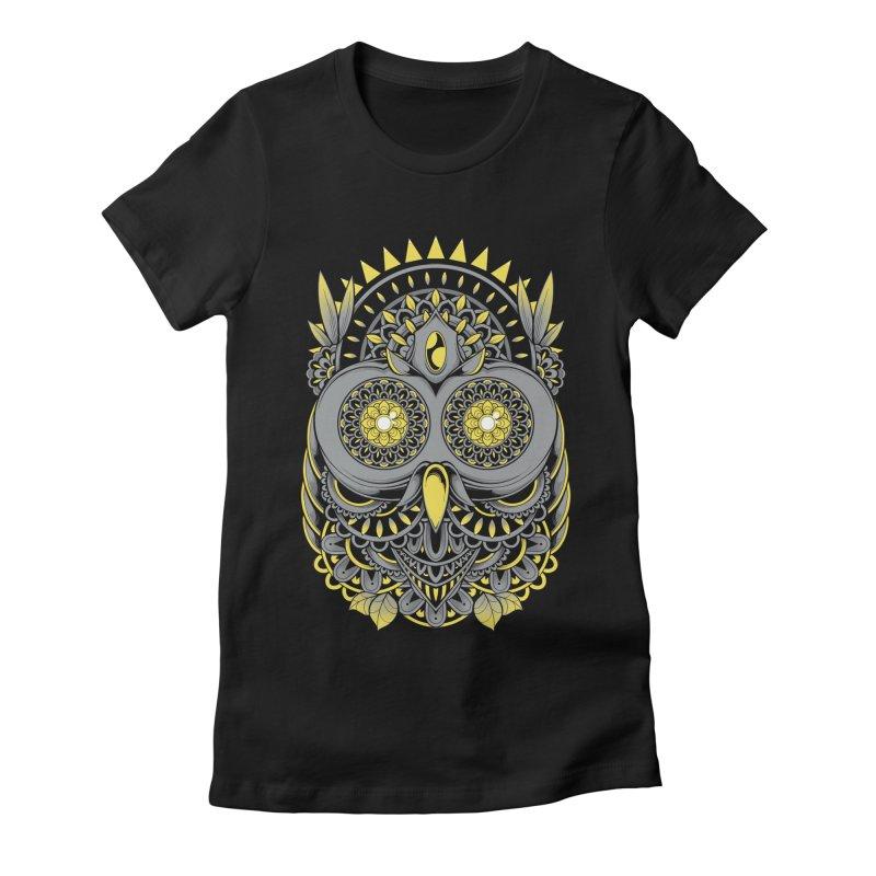 Golden Owl Women's T-Shirt by godzillarge's Artist Shop