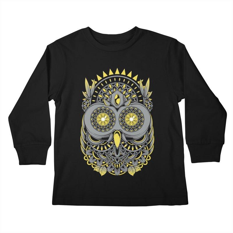 Golden Owl Kids Longsleeve T-Shirt by godzillarge's Artist Shop