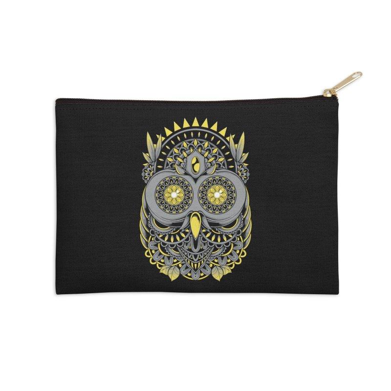 Golden Owl Accessories Zip Pouch by godzillarge's Artist Shop
