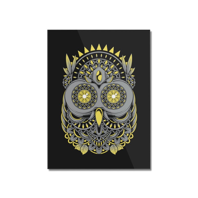 Golden Owl Home Mounted Acrylic Print by godzillarge's Artist Shop