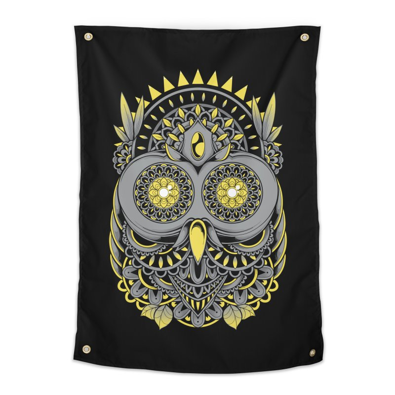 Golden Owl Home Tapestry by godzillarge's Artist Shop