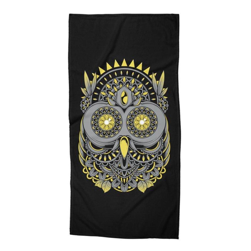 Golden Owl Accessories Beach Towel by godzillarge's Artist Shop