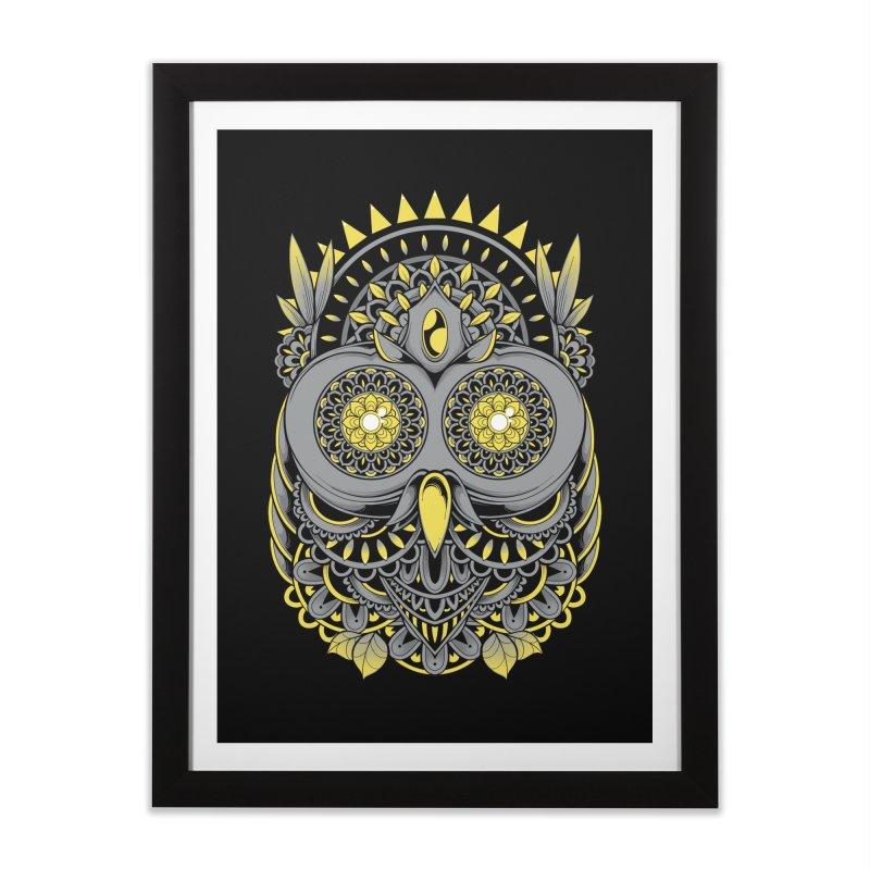 Golden Owl Home Framed Fine Art Print by godzillarge's Artist Shop
