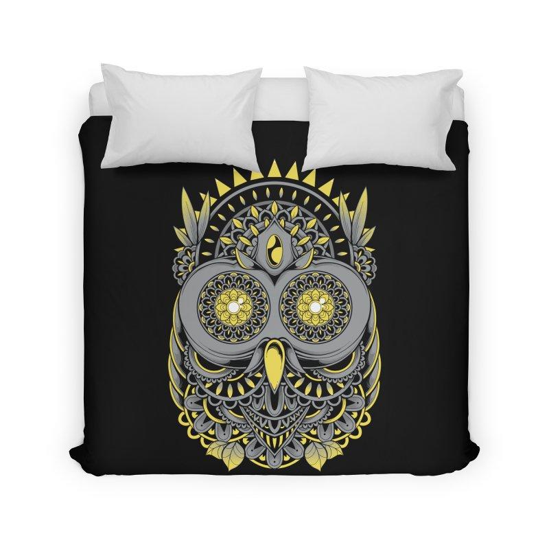 Golden Owl Home Duvet by godzillarge's Artist Shop